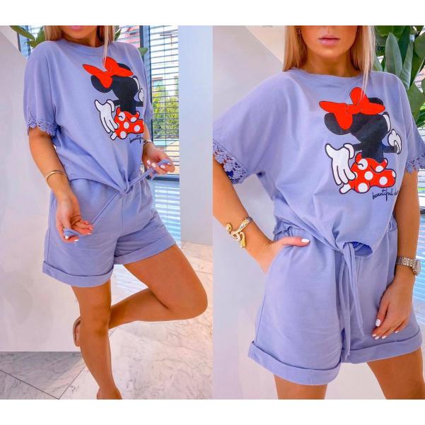 Komplet Mickey - fialový