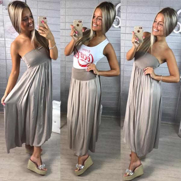 Šaty nebo suknička- světle hnědá