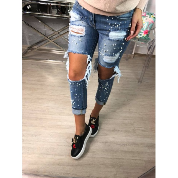 Extra trhané jeansy - TOP