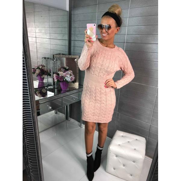 Pink svetříkové šaty