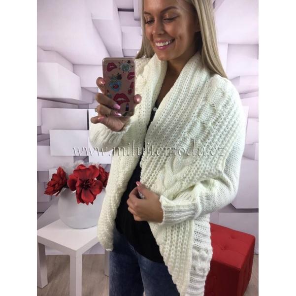 Bílý pletený svetřík