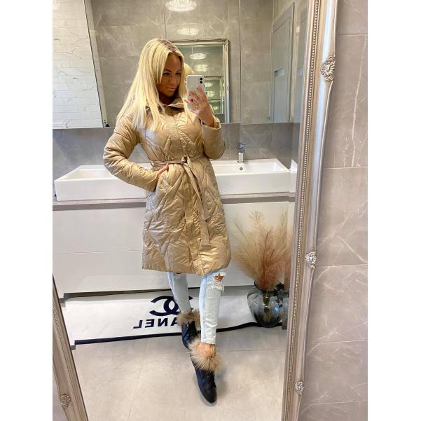 Kabát Luxy béžový