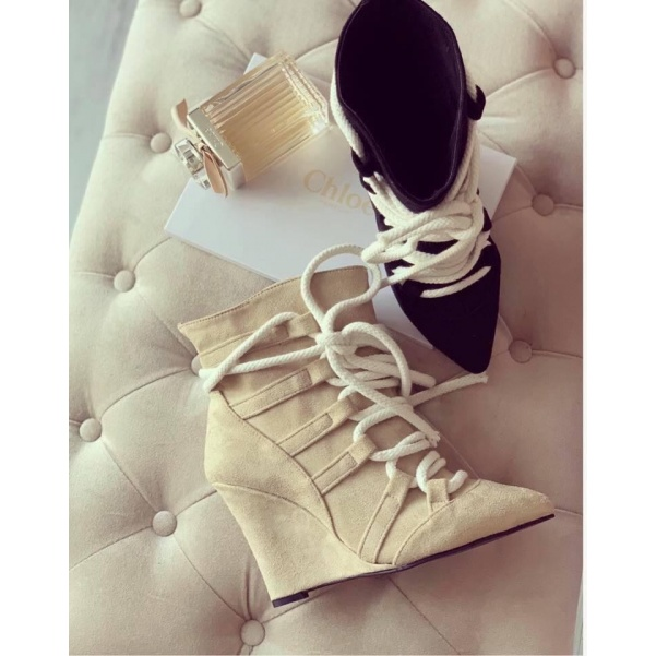 Extra kotníkové botky - beige