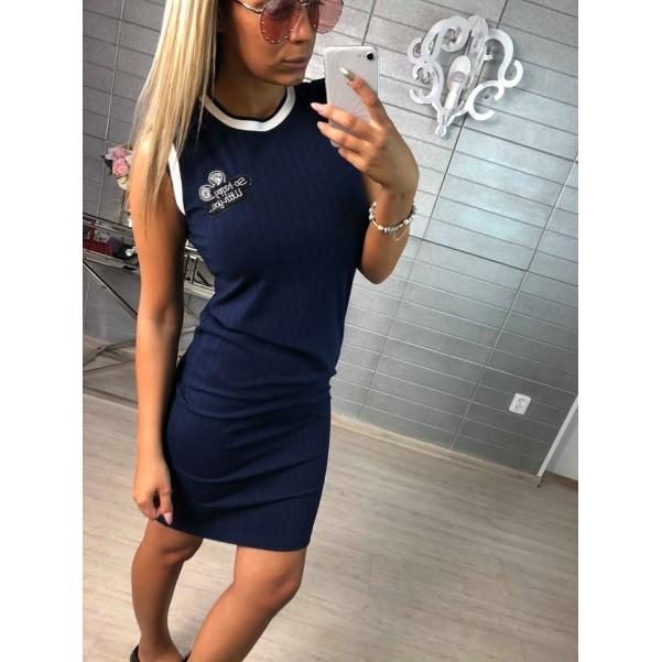 Super elastické šaty - tm.modrá
