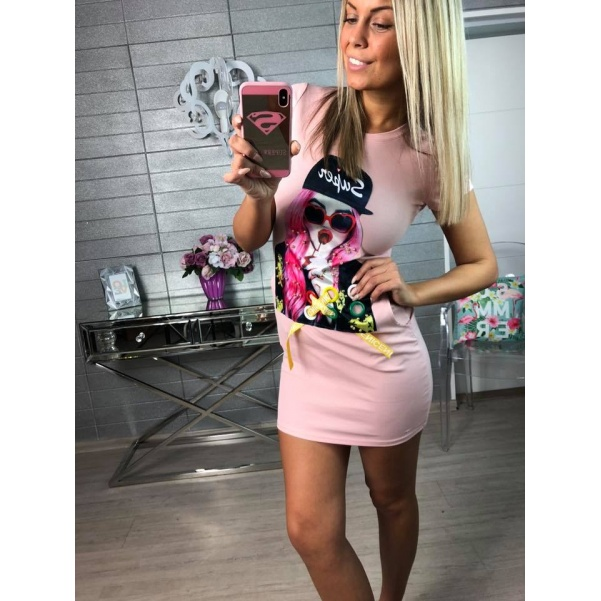 Girl šatičky růžové