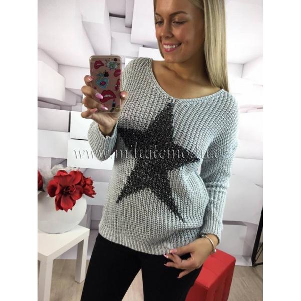 Šedý svetr STAR