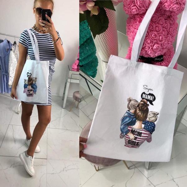 Plátěná taška - SUPER MAMA