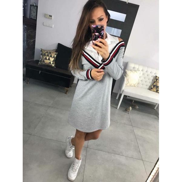 Tunikošaty Shirt šedé