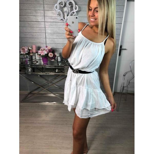 Bavlněné letní šatičky - white
