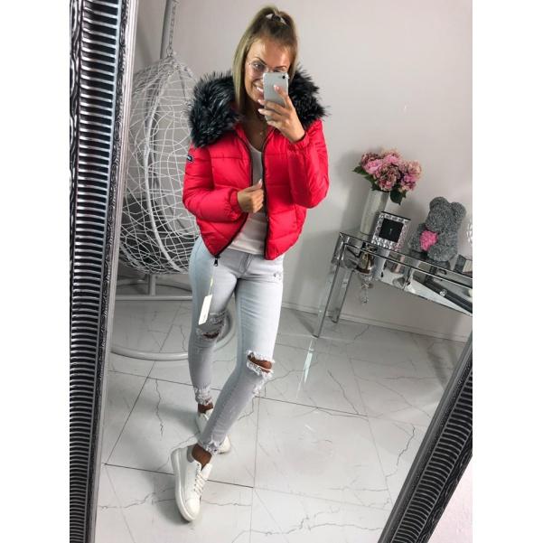 Zimní bunda RED s bohatým kožichem