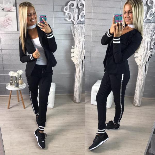 Elastické pohodové sako - černá barva