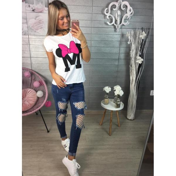 Tričko Mickey pink