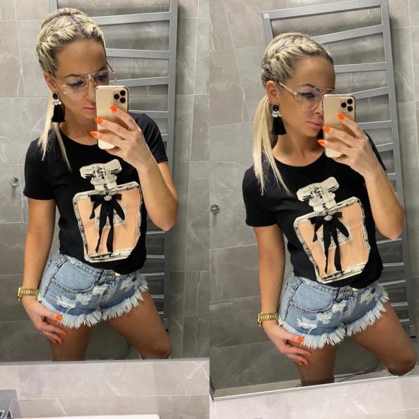 Super triko Chaneli - black