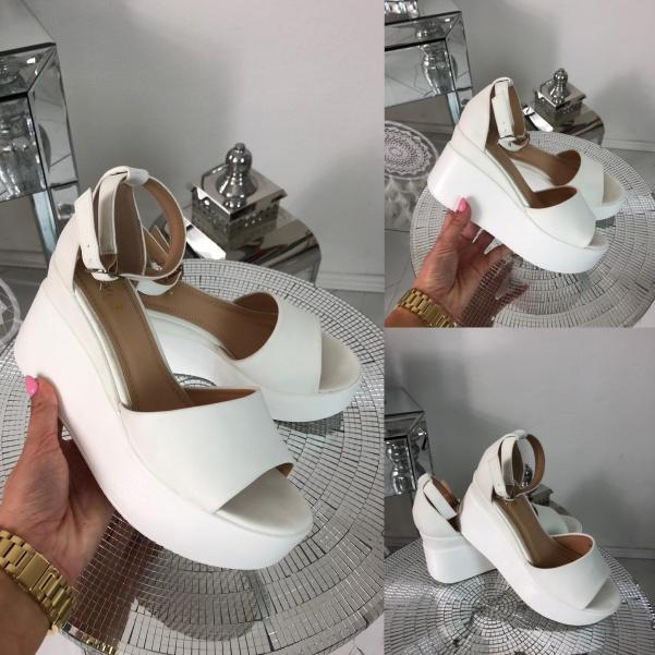 Super boty na platformě - bílé