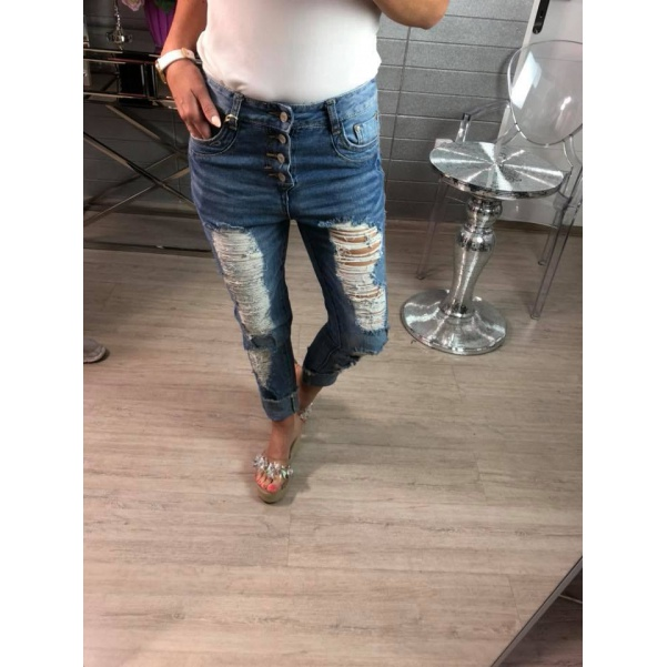 Trhané jeansy - Lorra