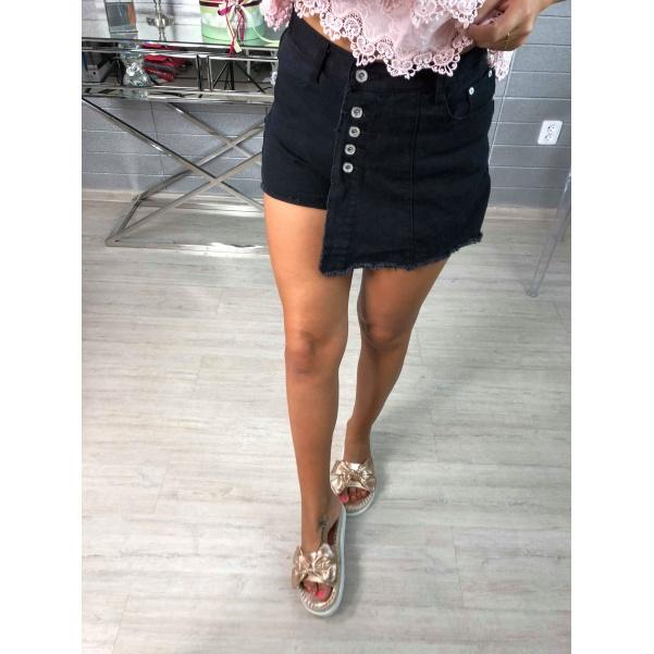 Kraťásková sukně black