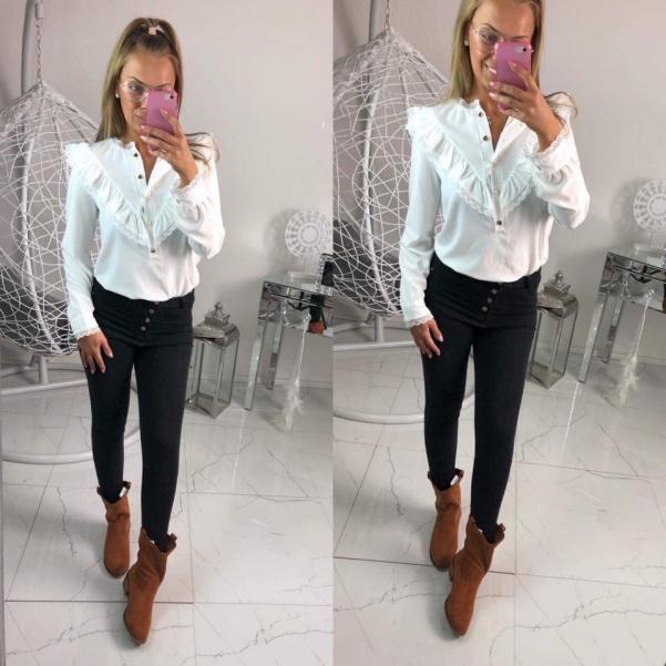 Košile s volánky bílá