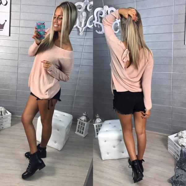 Extra třpytivý svetřík - PINK