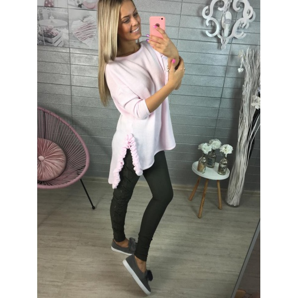 Krásný pink svetřík