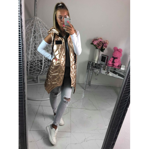 Lesklá vesta - zlatá
