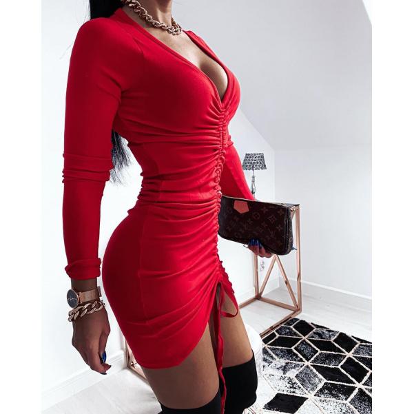 Červené šaty LORA