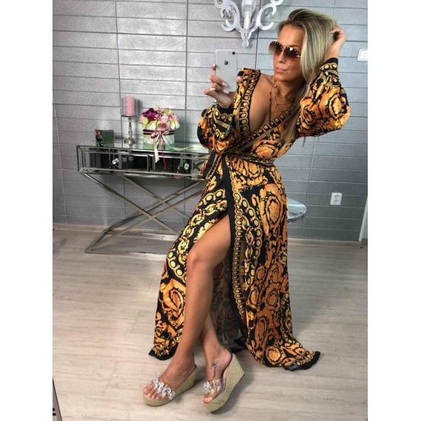 Luxusní šaty se vzroy  TOP kousek