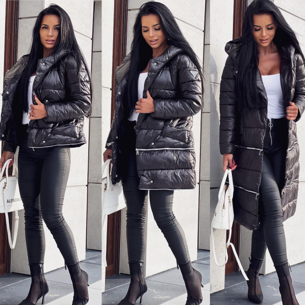 Skvělá bunda 3 kombinace - černá
