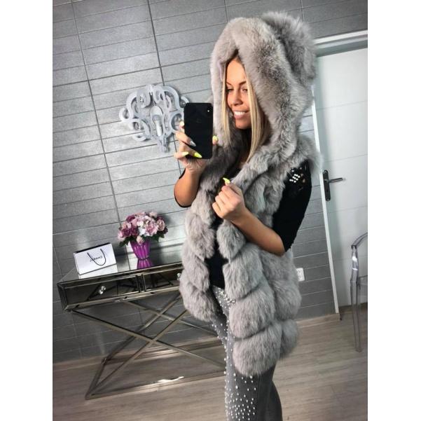 Luxusní vesta nádherné barvy grey - Natur