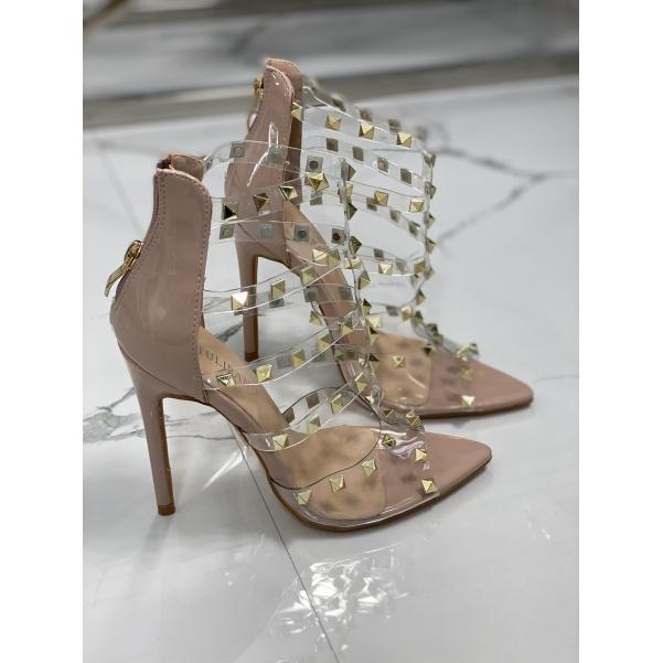 Luxusní botky s podpatkem - Capucino