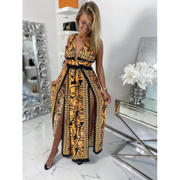 Luxusní dlouhé šaty Versa