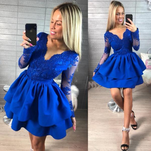 Luxusní královsky modré šaty - Diamond