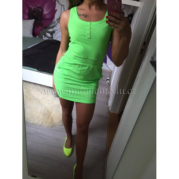 Zelené neon šaty