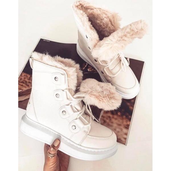 Kožíškové botičky - white