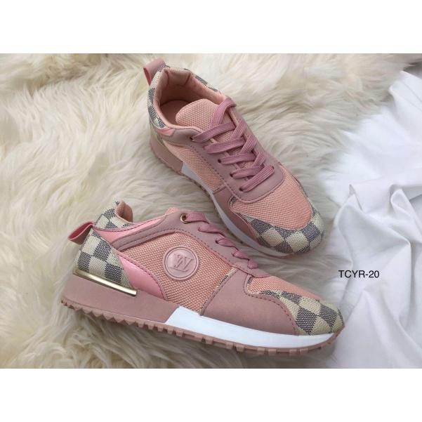 Luxusní tenisky ala LV - růžová