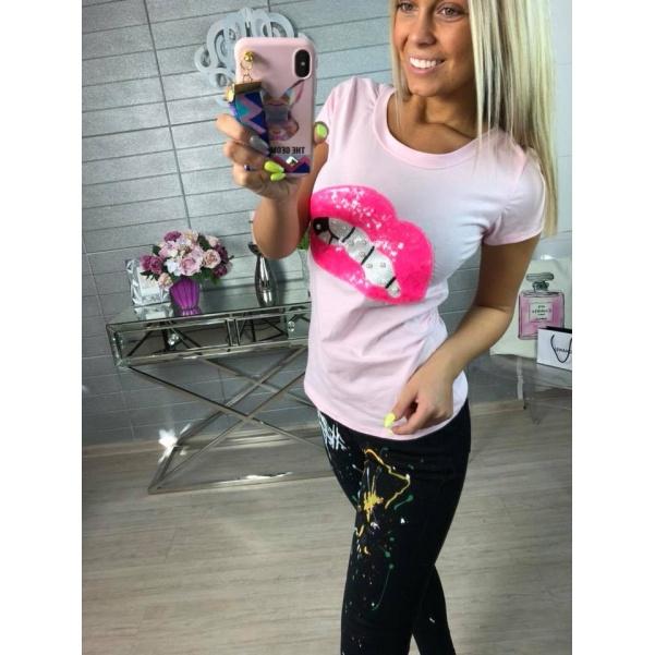 Tričko a pusou růžové