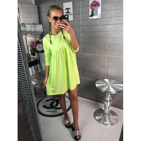 Pohodové zelené šaty