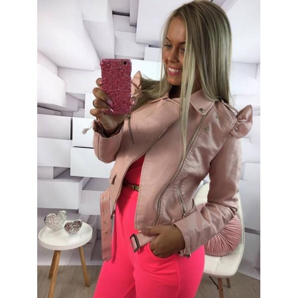 Krásná Pink bundička s volánky 3 BARVY