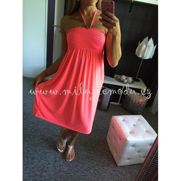 Letní růžové šaty