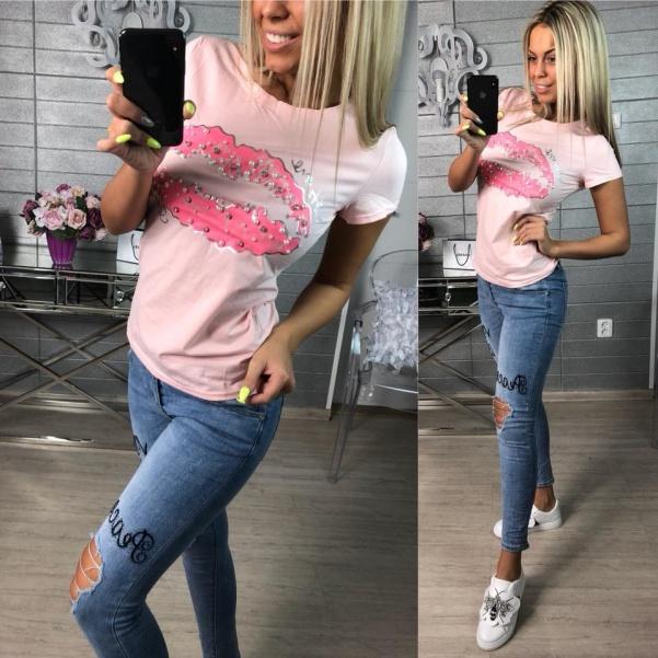 Tričko Kiss růžové