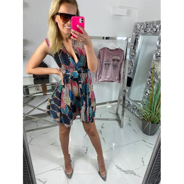 Luxusní vzorované šaty Lia
