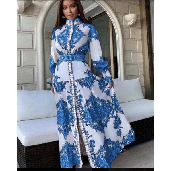 Modré šaty Luxury