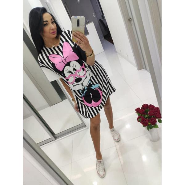 Pruhované šaty Minnie