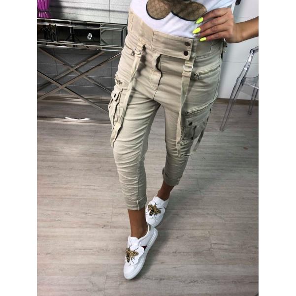 Top kalhoty béžové