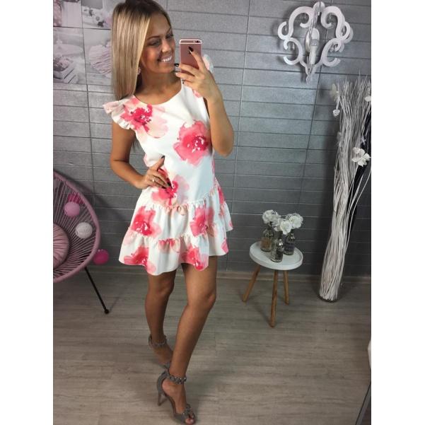 Top květované šaty s vázáním