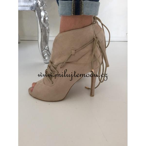 Luxusní béžové boty