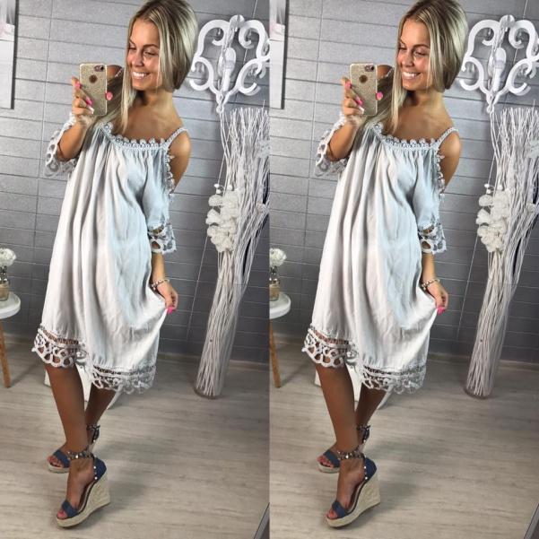 Lehounké šaty nebo tunika  - šedá