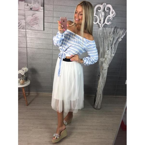 Bílá tylová sukně