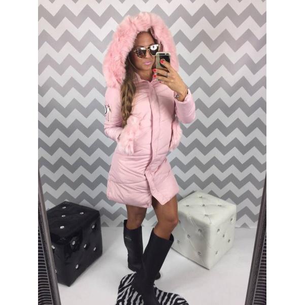 PINK růžová zimní bunda