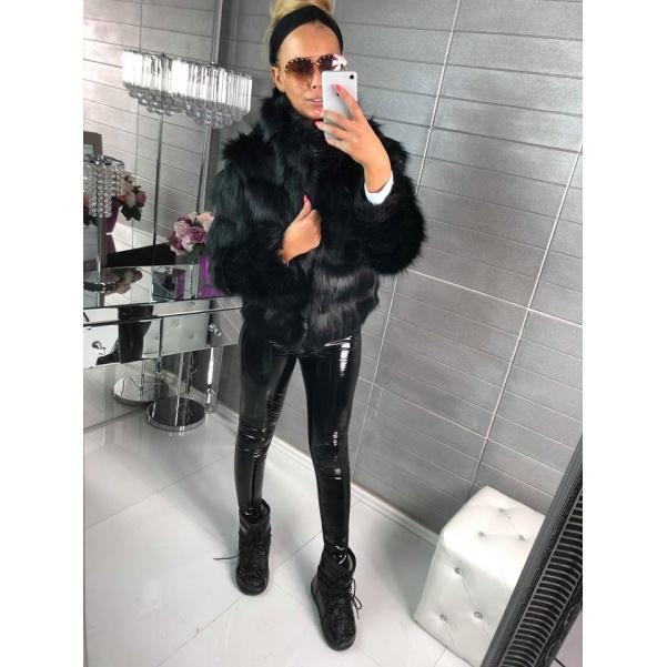 Luxusní kožíšek - černá