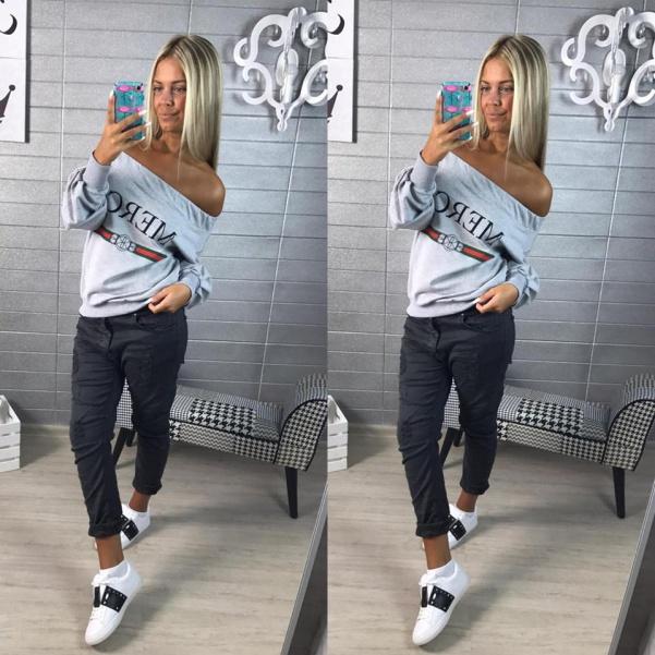 Mikinka ala Gucci - grey